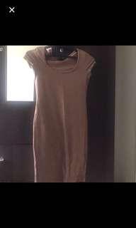 bodycon dress brown and marron