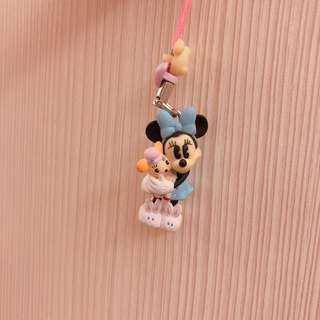 迪士尼 米妮復古版吊飾 扭蛋