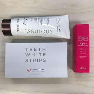 Teeth White Strips 美白牙齒,BB cream,Body Lotion