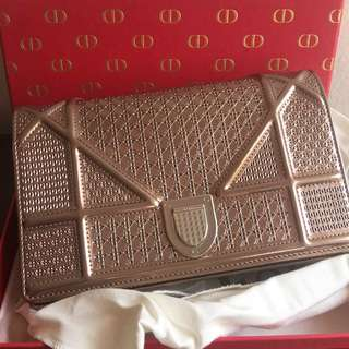 Dior Wallet on chain Rose Gold