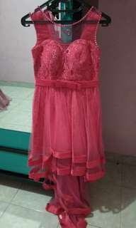 Gaun pesta / gaun fushia / gaun murah