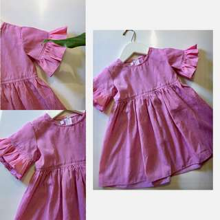Dress merah anak 4-5 Y