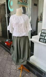 Bangkok green skirt new