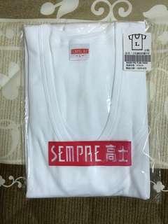 🚚 白色羅文針織汗衫