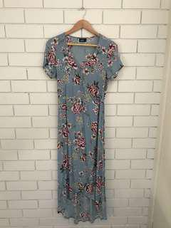 Dotti Floral Maxi Wrap Dress