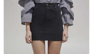 Bardot black denim skirt