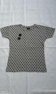 Zara ori polkadot t shirt