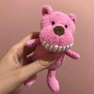 🚚 大牙娃娃 露齒娃娃 粉紅熊 娃娃 吊飾