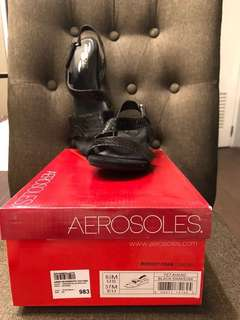 Repriced! Aerosoles low wedge sandals