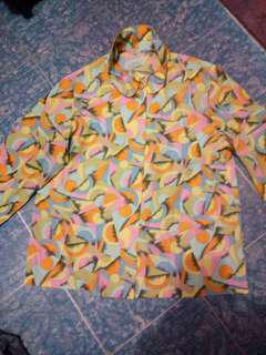 Printed blouse S-med new
