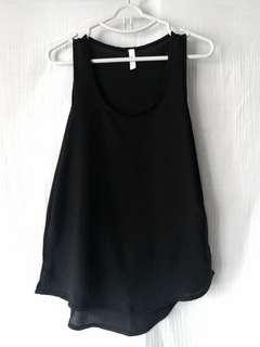 黑色紡紗背心