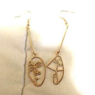 Anting / Earrings Abstrak Wajah / Face Abstract