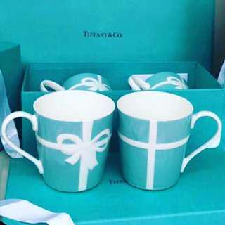 🚚 日本Tiffany & co. 馬克杯對杯禮盒組 現貨一組 含紙袋緞帶禮盒