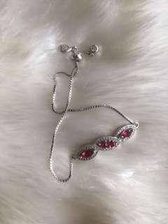 Ruby stone - 925 real sterling silver Bracelet