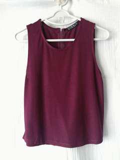 暗紅色棉質背心  Cotton On Red Top 購自新加坡