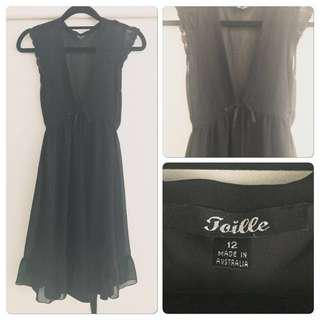 Flirty Little Black Slip Dress