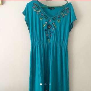 (*) CICADA BLUE DRESS