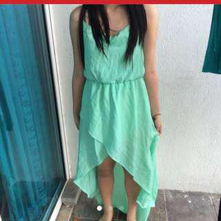 (*) MINT GREEN PROM DRESS