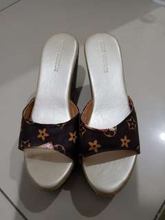 Louis vuitton wedges shoes premium quality