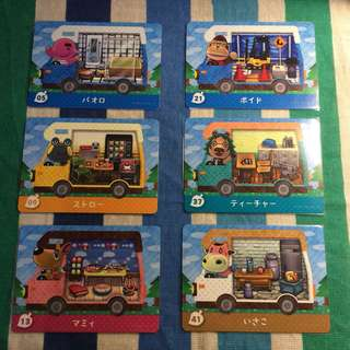 Animal Crossing New Leaf Welcome Amiibo RV Cards (Loose)