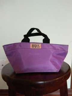 Purple hand tote (bag)