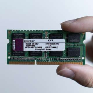 Kingston 2GB DDR3 NOTEBOOK RAM 1066MHZ #50under