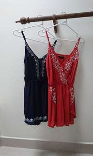 two cute playsuits size 6 xs