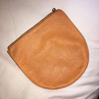 Baggu orange pouch clutch