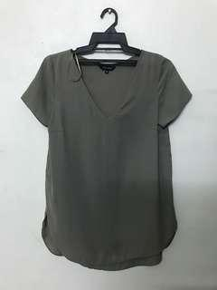 New Look Army Green Chiffon Blouse #JulyPayDay