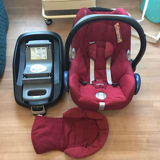 Maxi cosi cabriofix and familyfix isofix base