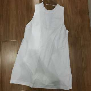 ZARA all white dress