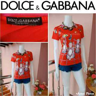-Yunik- Authentic DOLCE & GABBANA Monkey Print T-shirt