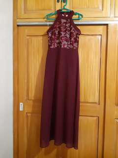 Maroon Long Gown