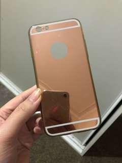 Rose gold mirror phone case