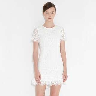 FASHMOB Kylee Lace Dress in White