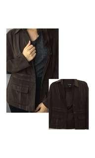 Stretch Dark Brown Coat/Jacket