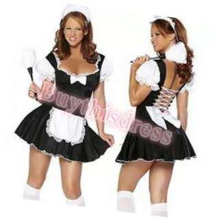 French Maid Lovely Party Dress Costume AU 8