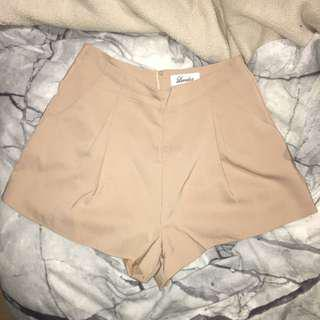 nude beige dressy shorts
