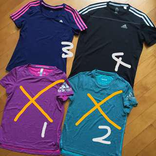 Adidas 運動衫 跑步衫 速乾質料