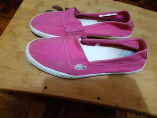 Lacoste pink shoes