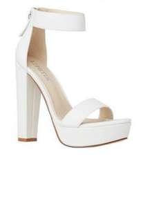 lipstick white heels
