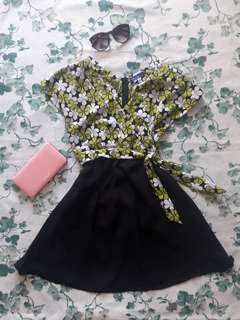 Green Floral Formal Dress