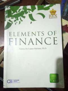 Elements of Finance by Lopez-Mariano