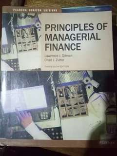 Principles of Managerial Finance by Gitman & Zutter