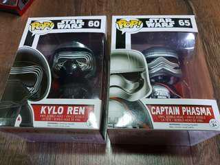 FUNKO Pop Star Wars Kylo Ren Captain Phasma Bundle