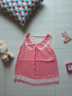 Pink Pastel Sleeveless Top