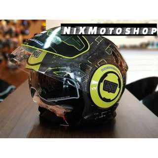 AGV FLUID IBISCUS GUNMETAL/YELLOW