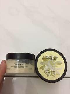 Body shop moringa body butter body scrub
