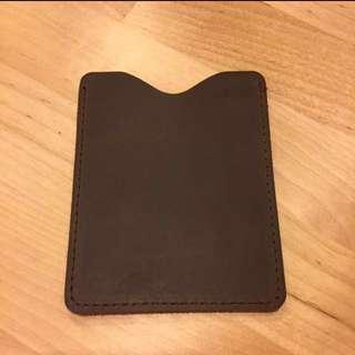 (Sale!) Leather Card Case - Dark Brown