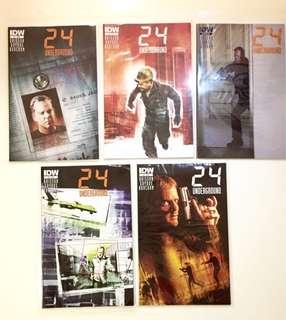 24 Jack Bauer IDW Comics Underground #1 to #5 & Omnibus Set